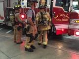 Ladder 53 crew at Gulf Coast Town Center